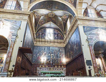 Basilica Di Santa Agata Cathedral Of Gallipoli. Puglia, Italy.