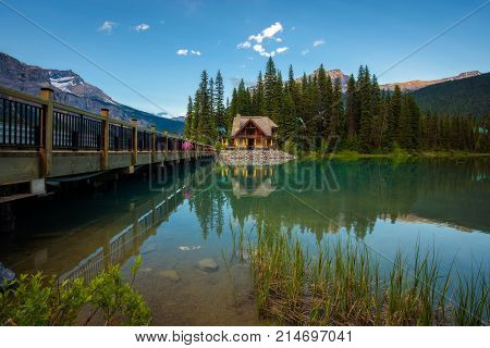 Emerald Lake Lodge with a restaurant in Yoho National Park, British Columbia, Canada.