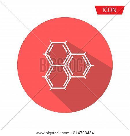 Biochemistry Icon. Flat Design. Isolated Molecule structure,Atom icon vector , atom symbols on background.