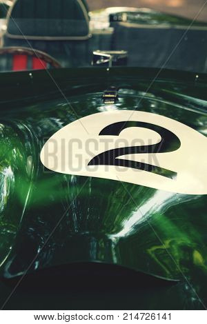 number 2 racing car