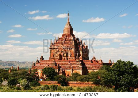 Ancient paya in Bagan (Myanmar)