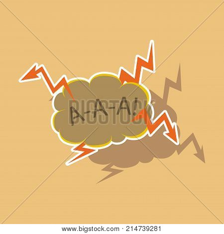 paper sticker on theme Comic speech bubbles set with emotions and text