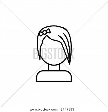 beautiful Emo girl icon on white background