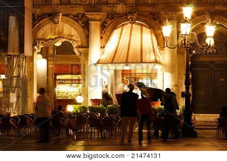 Musicians in San Marco Plaza, Venice, Italy
