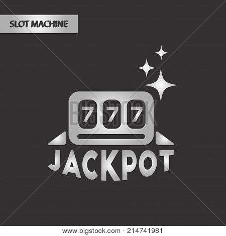 black and white style poker jackpot Lucky seven