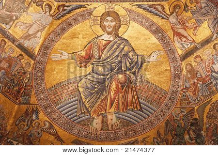 Mosaics in Baptistery of St. John in Firence, Italy