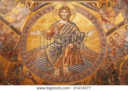 在 Firence,意大利圣约翰洗礼的马赛克