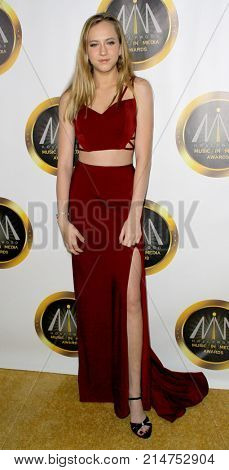 Alexa Friedman arrives at The Hollywood Music in Media Awards at the Avalon Hollywood in Los Angeles, CA on Nov. 16, 2017.