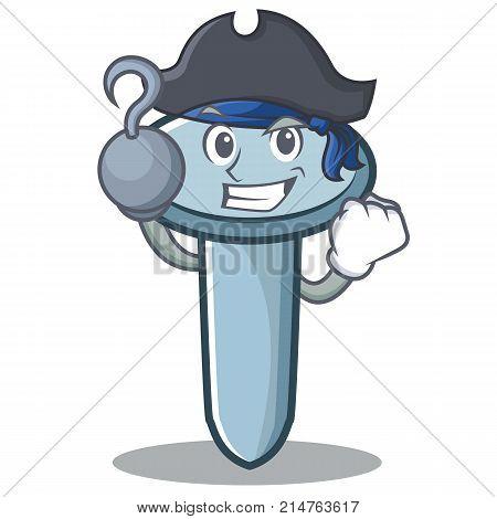 Pirate nail character cartoon style vector illustration