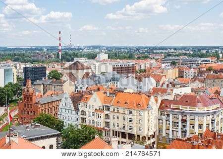 Poznan, Poland - June 28, 2016: View On Old And Modern Buildings In Polish Town Poznan