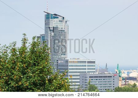 Gdynia, Poland - August 20, 2016: Building Of Sea Towers In Polish Town Gdynia