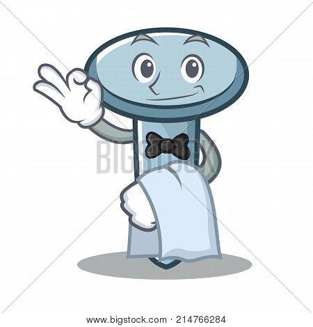 Waiter nail character cartoon style vector illustration