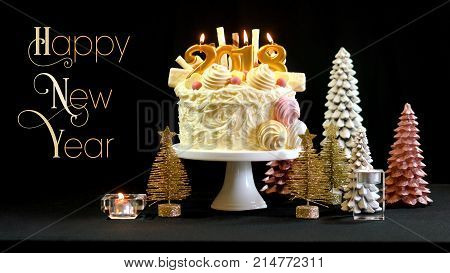 2018 Happy New Year Showstopper Cake With Text