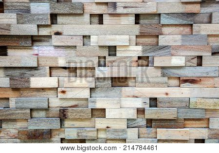 modern wood block pannel for wall background