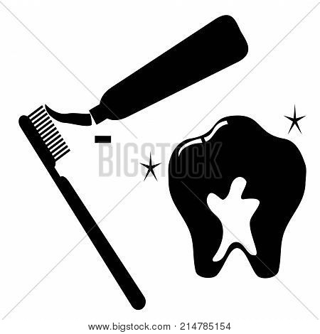 isolated clean tooth icon set on white background