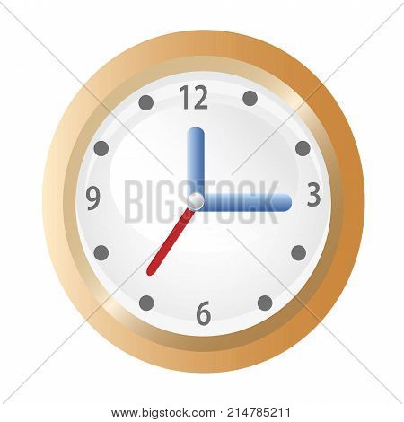 isolated the clock icon on white background