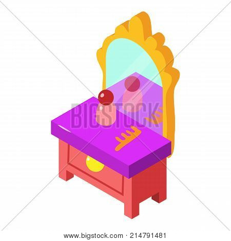Console mirror icon. Isometric illustration of console mirror vector icon for web