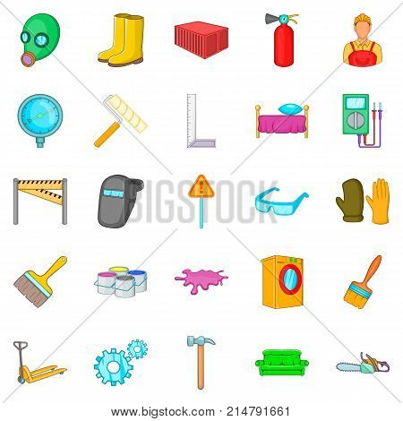 Own accommodation icons set. Cartoon set of 25 own accommodation vector icons for web isolated on white background