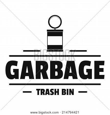 Bin trash garbage logo. Simple illustration of bin trash garbage vector logo for web
