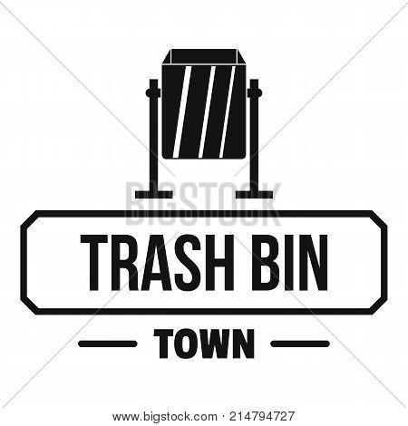 Bin trash town logo. Simple illustration of bin trash town vector logo for web