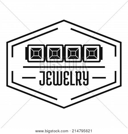 Jewelry logo. Simple illustration of jewelry vector logo for web