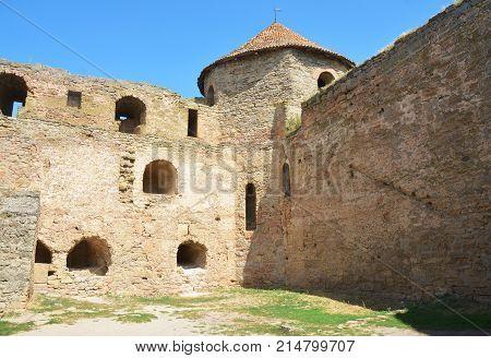 BILGOROD-DNISTROVSKYJ UKRAINE - September 27 2017: Bilhorod-Dnistrovskyi castle or Akkerman fortress architectural monument of XIII-XIV centuries in Ukraine.