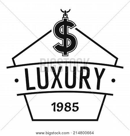 Jewelry luxury logo. Simple illustration of jewelry luxury vector logo for web