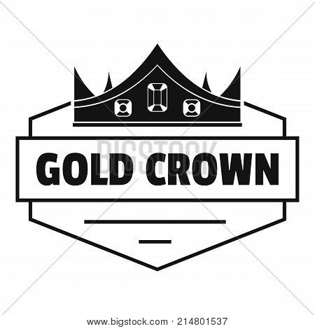 Jewelry crown logo. Simple illustration of jewelry crown vector logo for web