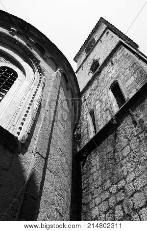 Curves and straits of the churches and towers
