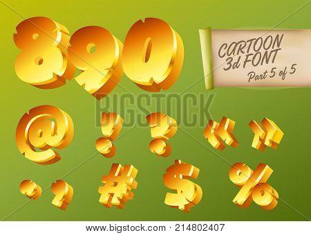 Vector 3D Gold Font Vector & Photo (Free Trial) | Bigstock