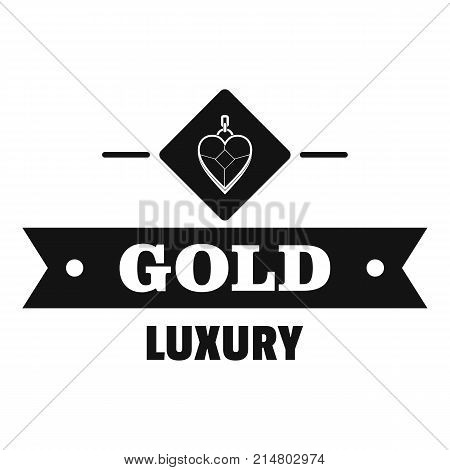 Jewelry gold logo. Simple illustration of jewelry gold vector logo for web