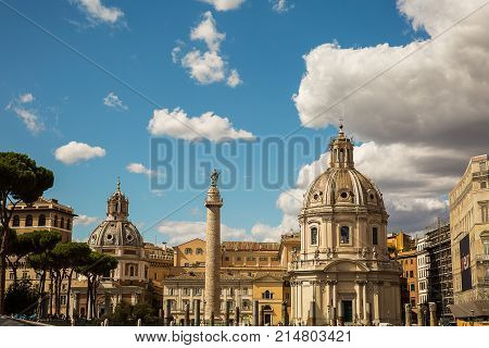 Beautiful view of the historical part of Rome Italy .