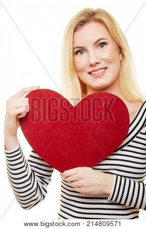 Great red heart for Mother's Day or Valentine's Day gift from a young woman