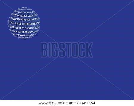 Globe With Binary Code