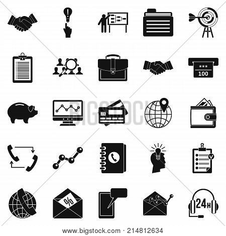 Public attitude icons set. Simple set of 25 public attitude vector icons for web isolated on white background
