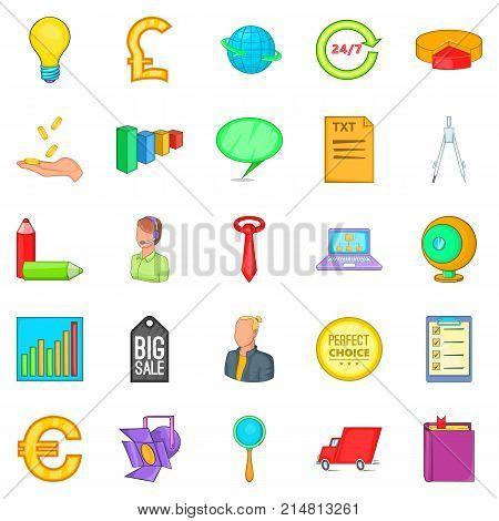 Social relationship icons set. Cartoon set of 25 social relationship vector icons for web isolated on white background