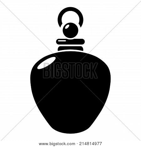 Perfume bottle merchandise icon. Simple illustration of perfume bottle merchandise vector icon for web