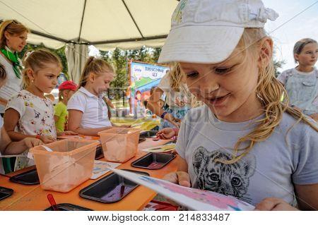 Open Day Of Sberbank For Children. Artists. Tyumen