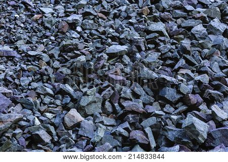 Abstract natural background with scree stones .