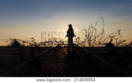 Silhouette Of A Military Man