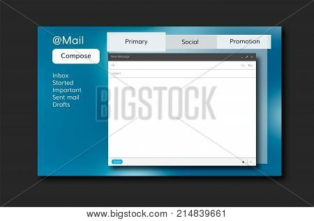email template vector mail inbox internet open