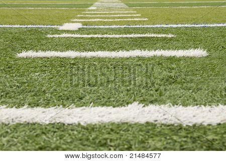 Grass football field markers