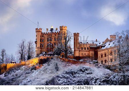 Hohenschwangau Castle, Romanesque Revival Palace, Fussen, Bavaria, Germany