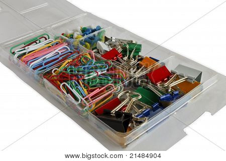 A Box of Pins and Clips