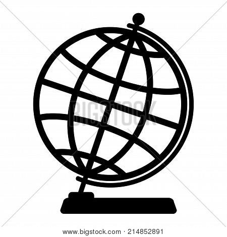 Silhouette of the globe on a white background.