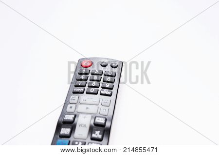 tv dvd remote control isolated on white background
