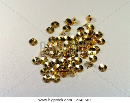 Gold Thumb Tacks