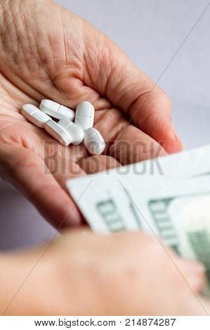 Concept For The Cost Of Pills