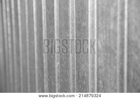 galvanized metal as a background . Photo of an abstract texture