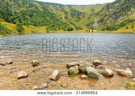 Lake In Karkonosze Mountains In Poland